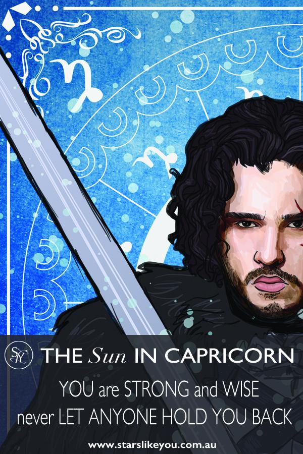 sun in Capricorn